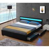 """Čalouněná postel,, Lyon """"s úložným prostorem - černá"""