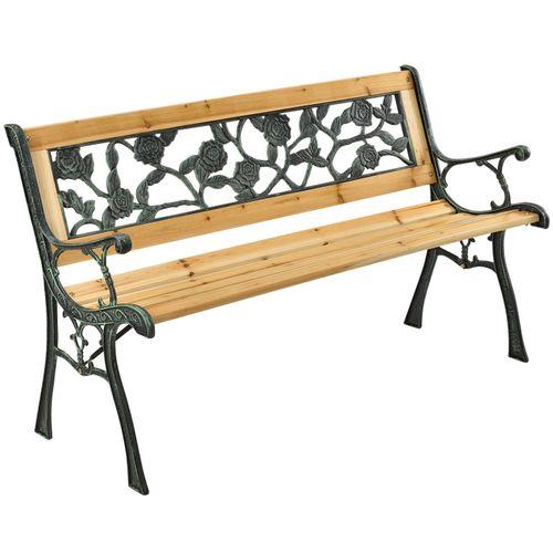 2-místná zahradní lavice Venezia ze dřeva a kových částí