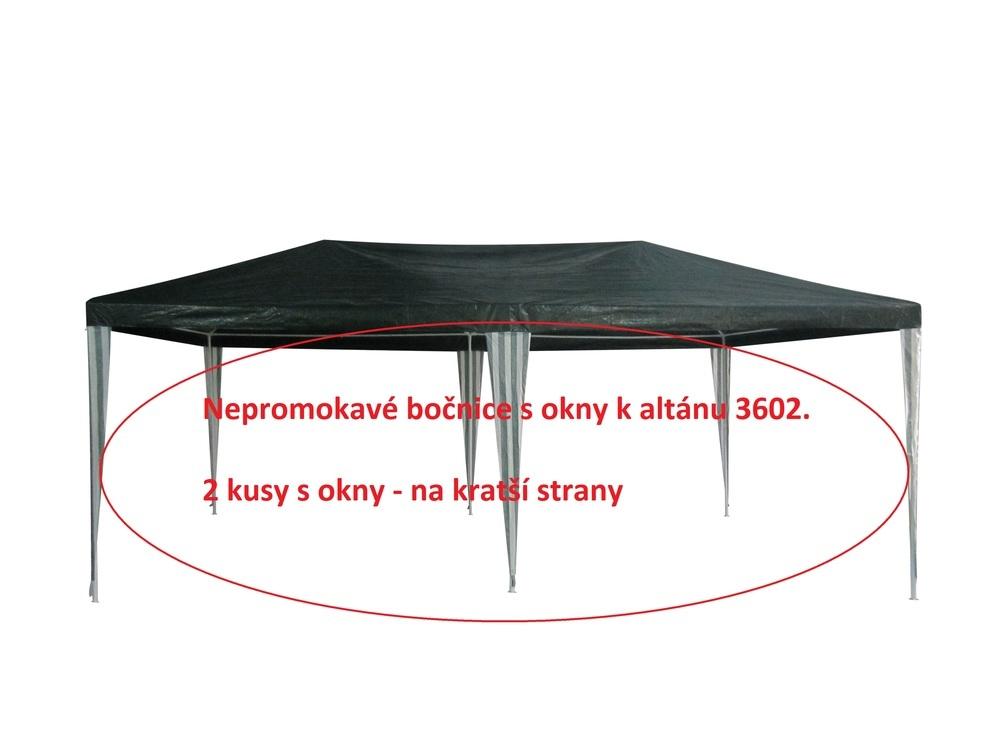 Bočnice k Altánu 3602 - 2ks s okny - ZELENO/BÍLÉ