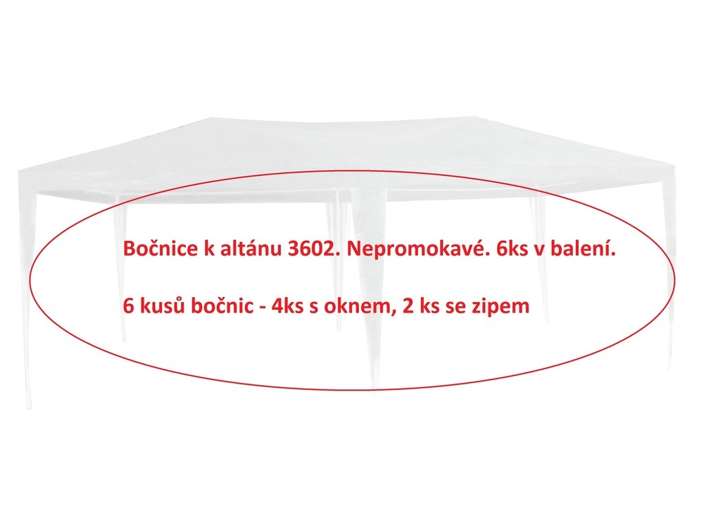 Bočnice k Altánu 3602 - 6ks - BÍLÁ