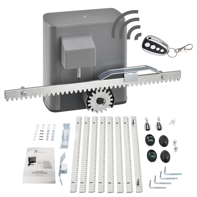 Eshopist Elektrický ovladač posuvných vrat s 2 dálkovými ovladači, až do 600 kg