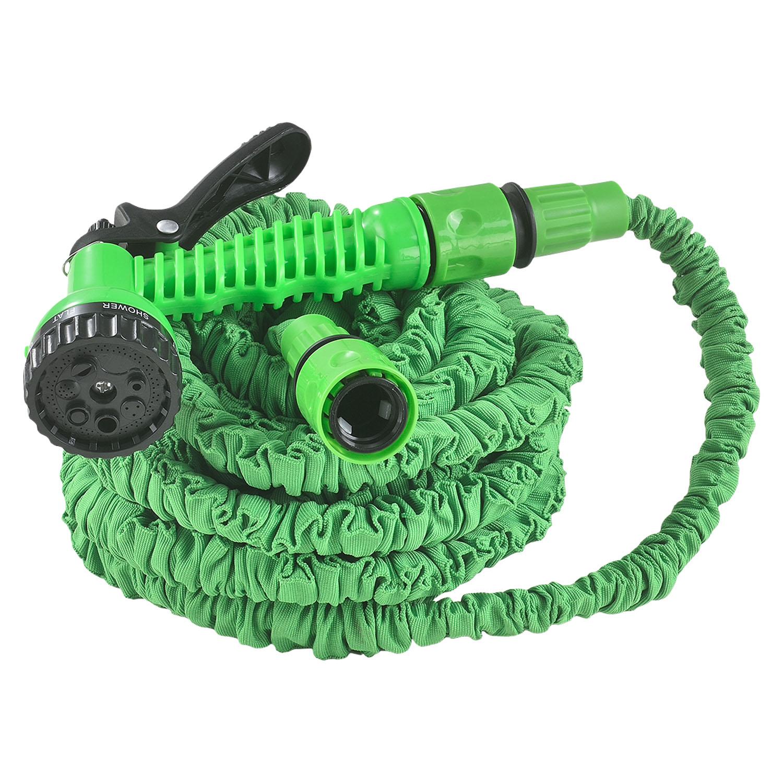 Eshopist Flexibilní zahradní hadice Aqua 15m s multifunkcionálnou hlavicí zelená