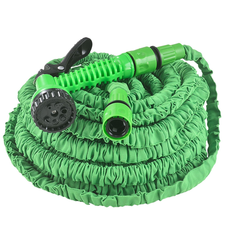 Eshopist Flexibilní zahradní hadice Aqua 30m s multifunkcionálnou hlavicí zelená