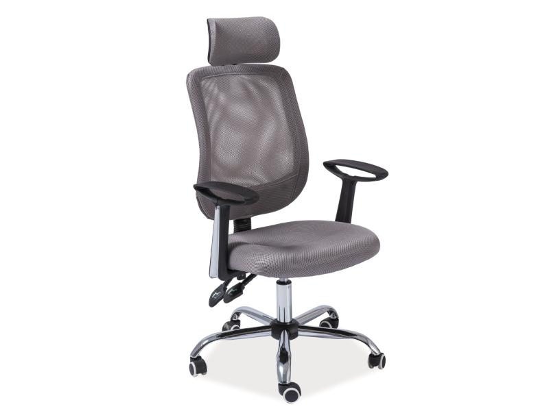 Eshopist Kancelářská židle Q-118 šedá