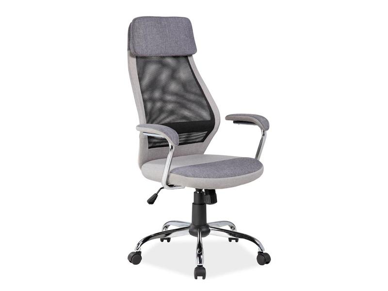 Eshopist Kancelářská židle Q-336 šedá