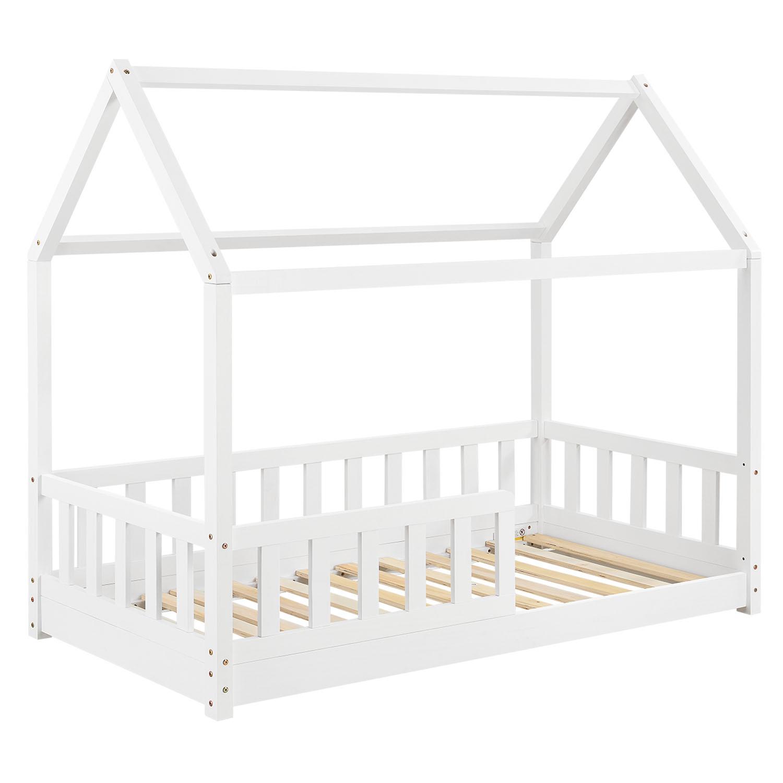 Eshopist Dětská postel Marli 80 x 160 cm s lamelovým roštem v bílé barvě
