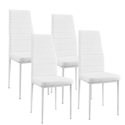 """Jídelní židle ,,New York"""" sada 4 kusy v bílém"""