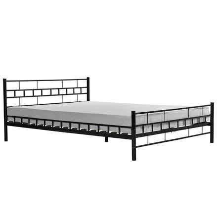 """Kovová postel,, Toskánsko """"140 x 200 cm - černá"""