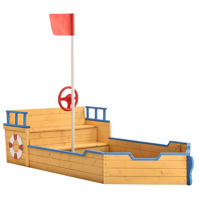 Eshopist Pískoviště Kapitán Pit – pirátská loď ze dřeva