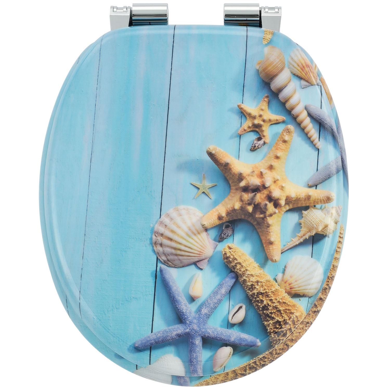 """Záchodové prkénko ,,Oceán"""" vyrobená z MDF s tichým zavíráním"""
